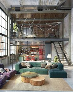 Would you live here?! Industrial Loft by Golovach Tatiana @dopearchitect