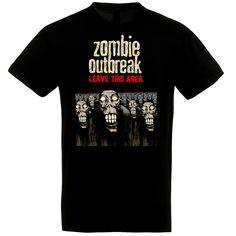 Zombie Outbreak fekete póló Polo, Halloween, Mens Tops, T Shirt, Supreme T Shirt, Tee Shirt, Polo Shirt, Halloween Stuff, Polo Shirts