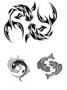 pisces tattoos   great design for zodiac tattoos tribal pisces tattoos