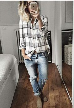 For all my love of edgy outfits, this is what I end up wearing 99% of the time in the fall. I do love a good flannel!
