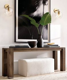 Reclaimed Russian Oak Parsons Console Table - All About Decoration Home Living Room, Living Room Designs, Living Room Decor, Console Table Living Room, Entryway Console Table, Hallway Console Table, Hallway Table Decor, Entrance Table, Console Table Styling