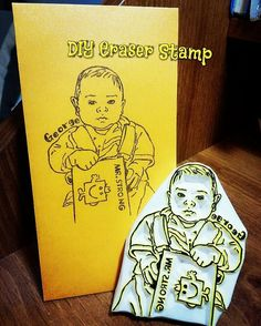 《Mr. Strong》 Portrait stamp for adorable George!  Happy children are blessings in life!😘😘 Wish you love and happiness~~ 《像真人像姓名印章》 估唔到印在利是封都match! 好可愛的GeorgeBB,希望你快高長大,日日開心!! #印章 #橡皮章 #印章訂造 #人像印章 #利是封印章 #歡迎訂造 #diystamp #stamp rubberstamp #eraserstamp #redpacket #portraitstamp #custommade #babystamp #namestamp #keshigomuhanko