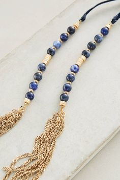Beaded Suede Necklace - anthropologie.com