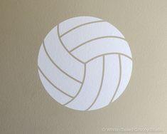 Volleyball Ball Vinyl Wall Decal - Wall Sticker - Home Decor Sticker - Wall…