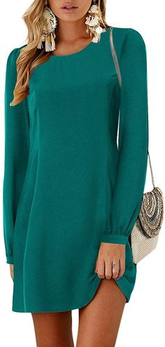 Women mini dress swing tunic is casual basic fashionable vacation style, brilliant suitable for work-out, party, trip, vacation, school, club, cocktail, casual daily wear. YOINS Women Mini Dresses Summer T-Shirt Tunics Self-tie Half Sleeves Solid Crew Neck Blouse Dress Summer Tshirts, Blouse Dress, Daily Wear, Swing Dress, Half Sleeves, Dress Outfits, Cold Shoulder Dress, Casual, Vacation Style