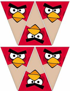 free to use & free to share Cumpleaños Angry Birds, Festa Angry Birds, Diy Party Decorations, Party Themes, Birthday Decorations, Party Ideas, Bird Birthday Parties, Birthday Fun, Bird Template