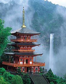 Nachinotaki, highest fall in Japan. World Heritage in Wakayama