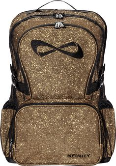 Twisted Sportswear - Nfinity Sparkle Backpack (Gold Sparkle), Call Us @ (717) 506-0600 for price and availability. (http://www.twistedsportswear.com/nfinitygoldsparkle/)