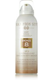 Hampton SunSPF8 Continuous Mist Sunscreen with Bronzer, I got such a good tan with this in Miami!