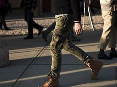 If you have to wear cargo pants this is how you should do it