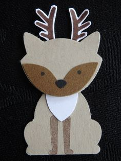 Fox Builder Punch challenge dag 6: Hertje https://www.facebook.com/Lysettes.stampin.universe/