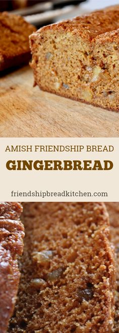 Gingerbread Amish Friendship Bread is the best of both worlds -- a touch of sourdough tang paired with three kinds of ginger made this recipe a holiday favorite. Friendship Cake, Friendship Bread Recipe, Friendship Bread Starter, Amish Friendship Bread, Amish Bread Recipes, Recipes With Yeast, Dutch Recipes, Easy Recipes, Healthy Recipes