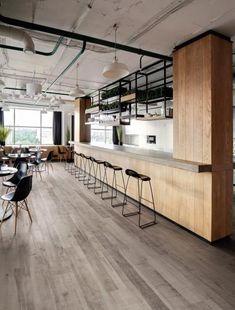 / Vinyl flooring with the oak planks design, BOCA Praha supplier. Vinyl Tiles, Vinyl Flooring, Vinyl Planks, Parquet Flooring, Wall Tiles, Hardwood Floors, Johnson Tiles, Commercial Office Design, Industrial Office Design