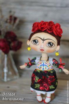 Коллекционные куклы ручной работы. Интерьерная  текстильная кукла Фрида Кало.. Эллада Магарамова. Интернет-магазин Ярмарка Мастеров.