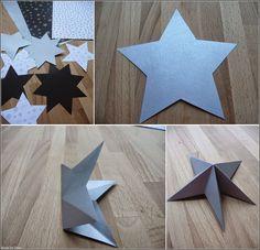 Made by Deni: 2 ADVENTNÍ OKÉNKO - Papírové hvězdy