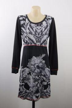 NWT Size L 14 Ladies Black Dress Tunic Boho Chic Gypsy Shift Casual Office Style  | eBay