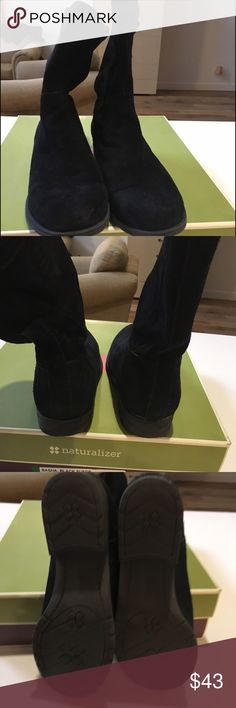 Naturalizer  black suede booty. size 9 wide Naturalizer  black suede booty. size 9 wide. Excellent condition! Hardly worn. Naturalizer Shoes Ankle Boots & Booties