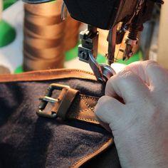 Kjøre Project's skilled craftsmen at work, a long passion!!  #kjore #kjoreproject #handmade #bags #backpacks #wallets #premium #newzealand #natural #tanned #oil #evolution #leather #design @kjoreproject