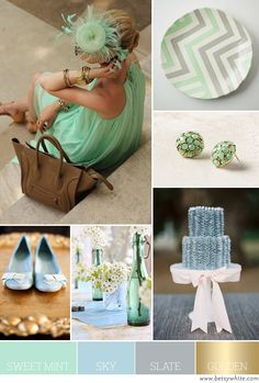 Color Palette: Sweet Mint, Sky, Slate and Golden | Flights of Fancy