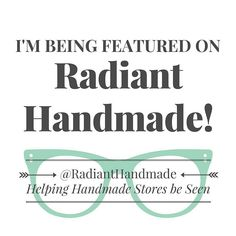 Thanks so much to Kristina @radianthandmade for the great feature!   #radianthandmade #feature #handmadecommunity #mellabelladesigns