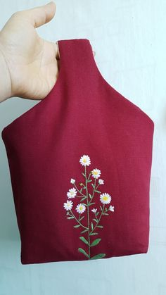 야생화자수에코백 : 네이버 블로그 Embroidery On Clothes, Embroidery Bags, Hand Embroidery Stitches, Embroidery Flowers Pattern, Flower Patterns, Art Bag, Brazilian Embroidery, Fabric Bags, Crochet Accessories