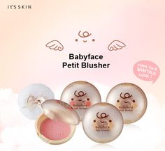 Für feine Akzente auf deinen Wangen! Entdecke den süßen *Babyface Petit Blusher* von IT'S SKIN in den Sorten: ♡ Romantic Rose ♡ Sweet Peach - Zum Produkt: www.seemyskin.de/make-up/rouge/ #seemyskin #itsskin #itsskindeutschland #itsskinofficial #kbeauty #koreanischekosmetik #blusher #rouge #makeup #beauty #koreancosmetics #koreanbeauty #beautytrends #beautytipps #beautyblog #asiatischekosmetik #babyface #schönheit #kbeautyblog #kbeautyblogger #blogger #beautyblogger #kosmetik