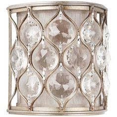 """Murray Feiss Lucia Collection 8"""" High Crystal Wall Sconce - master bath"""