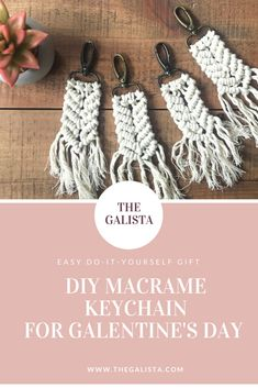 Do you miss handing out Valentine's just as much as I do? In honor of Park's and Recreation I decided to celebrate Valentine's Day this year. Check out how to create these DIY Mini Macrame Keychains including a super cheesy pun! All of your gal pals will love them!! - The Galista