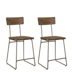 Standard Furniture 11604 Oslo 2-Pack Counter Height Chair Brown Luxury Home Furniture, Bar Furniture, Furniture Deals, Wood Counter, Counter Bar Stools, Extra Tall Bar Stools, Counter Height Chairs, Modern Bar, Dining Room Bar