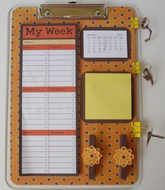 Craft Mad - Altered Clip Board by Kaye McGrath