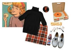 """""""70s lesbian chick"""" by pippa-bee ❤ liked on Polyvore featuring Retrò, Raoul, Dr. Martens and Fisher Price"""