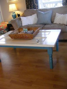 Coffee table from an old door