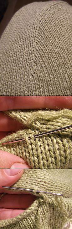 Как красиво вшить рукав. Вязание спицами..