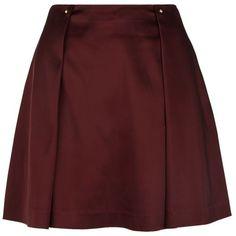Reiss Satin Mini Skirt Claret | Harrods (570 BRL) ❤ liked on Polyvore featuring skirts, mini skirts, faldas, gonne, short skirts, reiss skirts, satin skirt, mini skirt and short mini skirts