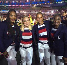#TeamUSA at Rio Olympics Opening Ceremony Via Serena Williams