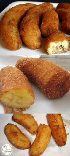 Banana A Milanesa, Easy Cooking, Cooking Recipes, Some Recipe, Empanadas, Pretzel Bites, Carne, Love Food, Food And Drink