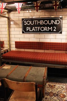 Cahoots is a secret underground bar In London that contains an entire Tube carriage.  The bar is inspired by the idea of an imagined tube station used as an air raid shelter finding new life in post-Blitz London