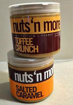 nuts 'n more high protein peanut butter this stuff is AMAZING on anything or just a spoon for a snack! No sugar!