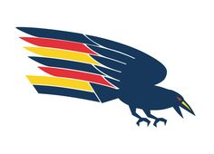 Dominate the sport and gain respect by your actions and the most cringe worthy logo will be displayed proudly by the multitudes. Sure a cool logo helps when. Crow Logo, Adelaide South Australia, Australian Football, Knitted Blankets, Crows, Line Drawing, Raven, Team Logo, Orlando