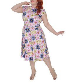 Another great find on #zulily! Annie's Garden Pink Floral Dress - Plus by Tatyana #zulilyfinds