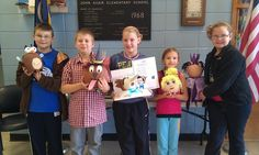 John Adair Students decorate pumpkins as book characters