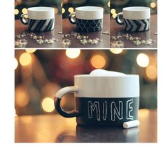 DIY mug -- chalk paint add hot chocolate packets and chalk :)