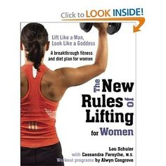 The author has a fantastic series of books about weight lifting: if you want to CHANGE the way you look, chugging away on the stair stepper thingy for 3 hours a day will NOT do it! Pick up some weights. Real weights. Not 8 lb barbie weights either. Seriously. Its a fantastic book.    The New Rules of Lifting for Women: Lift Like a Man, Look Like a Goddess books-worth-reading