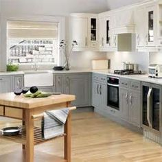 Image detail for -... With White And Grey Cabinets And With Laminate Flooring – HopeArch