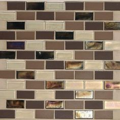 Daltile Coastal Keystones Treasure Island Brick Joint 12 in. x 12 in. x 6 mm Glass Mosaic Floor and Wall Tile-CK9021BJPM1P at The Home Depot
