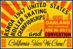 1947 Roller Skating Championships  from Vintage Roadside