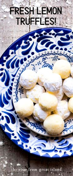 These Fresh Lemon Truffles are creamy confections with a bold citrus flavor. Rolled in sugar or dipped in dark chocolate ~ they make an unexpectedly light and bright homemade candy for chocolate and citrus lovers alike. Lemon Desserts, Lemon Recipes, Sweet Recipes, Delicious Desserts, Dessert Recipes, Yummy Food, Healthy Food, Lemon Truffles, Homemade Truffles