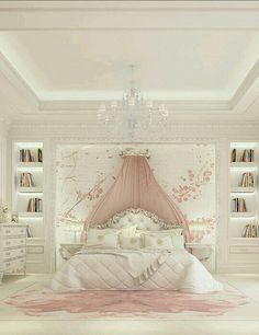 Luxury Girl Bedroom Design Ideas To Inspire you Interior Design - Bedroom Design: Luxury Girl Bedroom Design Ideas To Inspire you In… - Dream Rooms, Dream Bedroom, Home Bedroom, Bedroom Decor, Luxury Kids Bedroom, Bedroom Furniture, Fairytale Bedroom, Bedroom Fun, Baby Bedroom