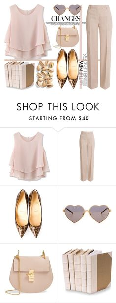 """""""Ordinary day in louboutin heels..."""" by nerma10 ❤ liked on Polyvore featuring Chicwish, Emilio Pucci, Christian Louboutin, Wildfox, Chloé, Decorative Leather Books, women's clothing, women, female and woman"""