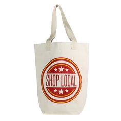 Shop Local Farmer Market Tote by HomArt - Seven Colonial Postnatal Workout, Healthy Shopping, Wellness Programs, Shop Local, Health Logo, Watch Football, Canvas Tote Bags, Canvas Totes, Brand Packaging